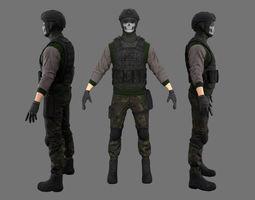 Character Soldier 3D asset