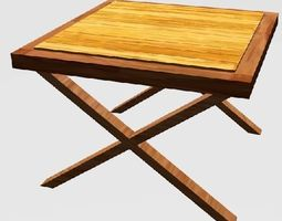 3d printable model wooden table