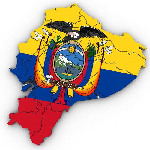 3d Political Map Of Ecuador 3d Model Cgtrader