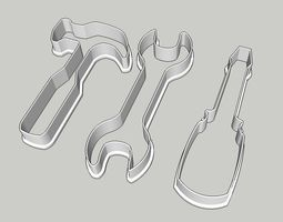 hammer wrench screwdriver cookie cutter 3D printable model