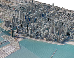 USA City Chicago 3D model