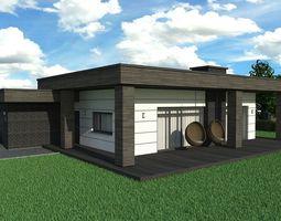 House dark 3D model