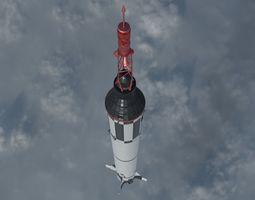 3D model Mercury Redstone Rocket