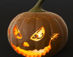 Halloween pumpkin 3D model creepy