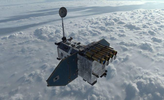 solar dynamics observatory 3d model animated max obj mtl fbx abc 1