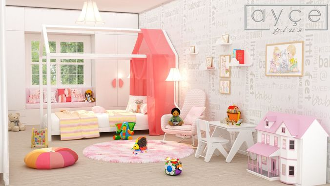 baby room 3d model max obj mtl fbx 1