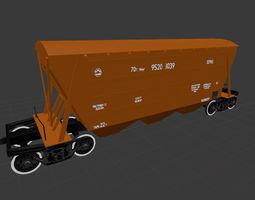 3D asset Railway Carriage 19-752 hopper