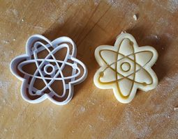 Atom Symbol cookie cutter 3D print model