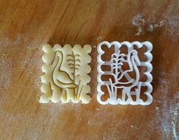 Stork bird cookie cutter 3D print model