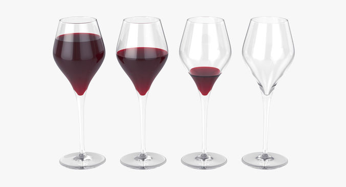 glass of wine 3d model max fbx 1