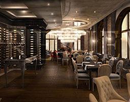 Wine restaurant 3D model