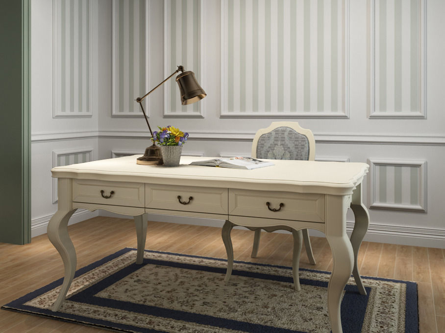 3 french country style desk 3d model max for Country french style furniture