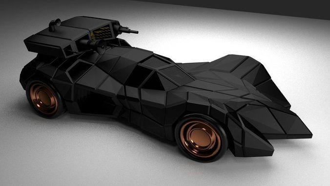 batmobile armored 3d model blend gltf glb 1