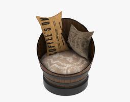 3D model Chair barrel