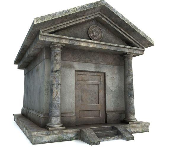 mausoleum pbr 3d model obj mtl 3ds fbx tga 1