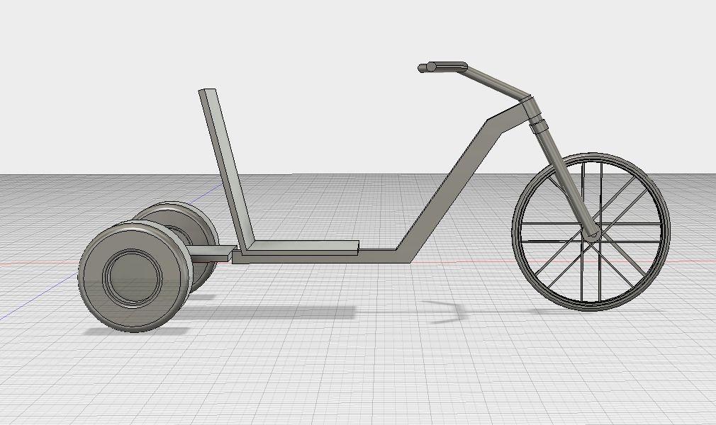 Simple Drift Trike No Motor | 3D Print Model