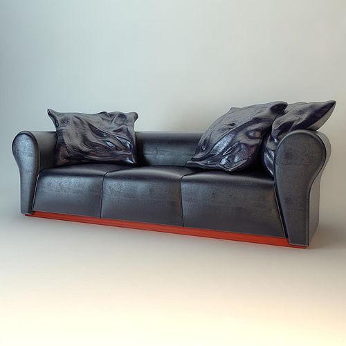 55cbe0bae5b3 Fendi Sofa 3D model