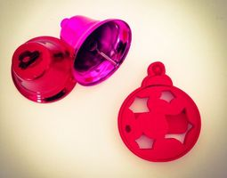 3d print model christmas ball ornament  cookie cutter