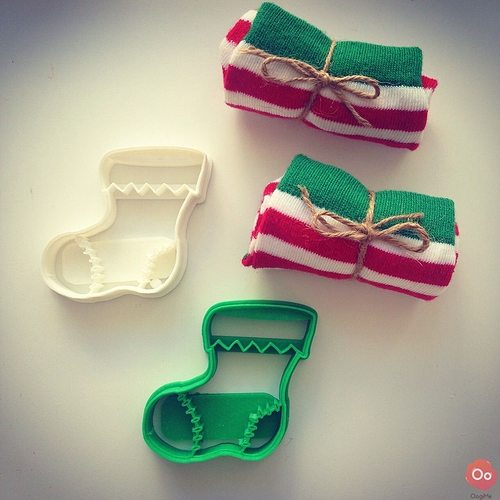 christmas sock cookie cutter 3d model stl 1