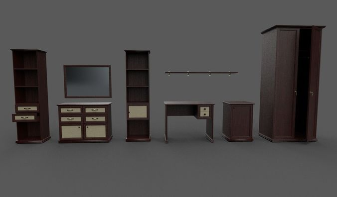 furniture collection 3d model fbx 1