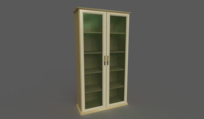bookshelf  3d model fbx dae 1