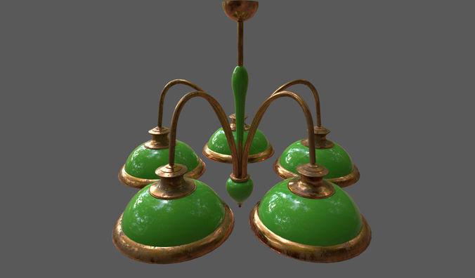 chandelier 3d model fbx dae 1