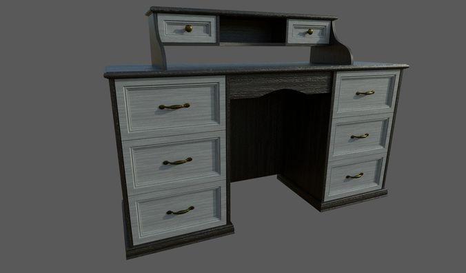classic table 3d model fbx dae 1