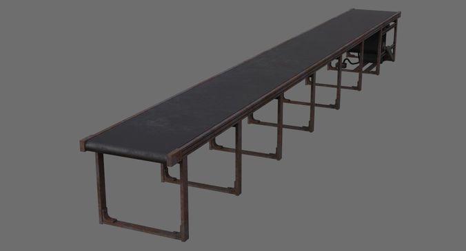 conveyor belt 1b 3d model low-poly obj mtl fbx blend 1