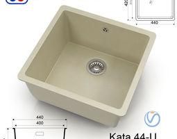 3D asset Kitchen sink Omoikiri Kata 44-U - 8 colors