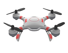 Simple quadrocopter drone 3D