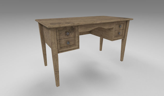 old table 3d model fbx dae 1