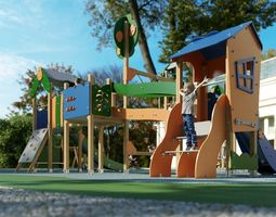 3D model Galopin Comic C304D P playground