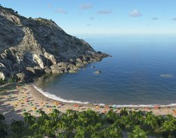 terrain Sandy bay in Terragen 3D model