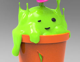 3D printable model My monster in the pot