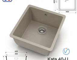 Kitchen sink Omoikiri Kata 40-U - 8 colors 3D asset