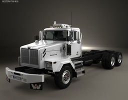 3D Western Star 4900 SB Day Cab Chassis Truck 2008