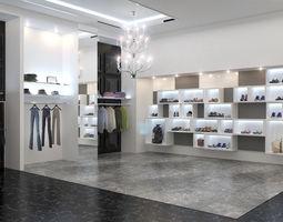 Clothing store interior Philipp Plein 3D model