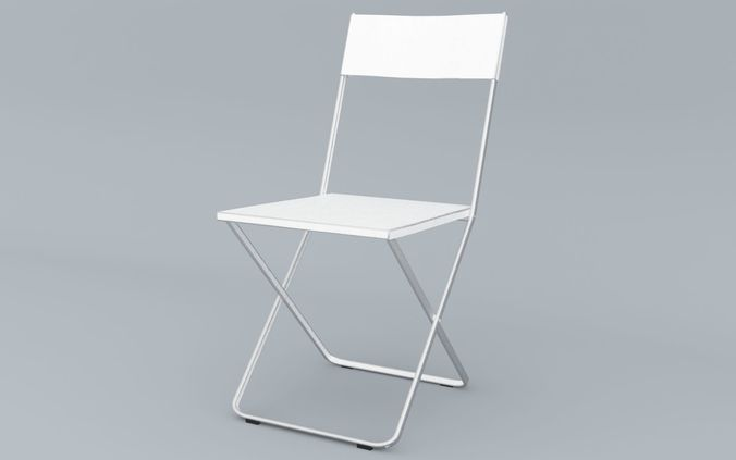 Outdoor Chair Ikea Fejan Low Poly 3d Model Obj Mtl 3ds Fbx Dae Skp ...