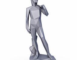 3D model David Sculpture Low Poly v2