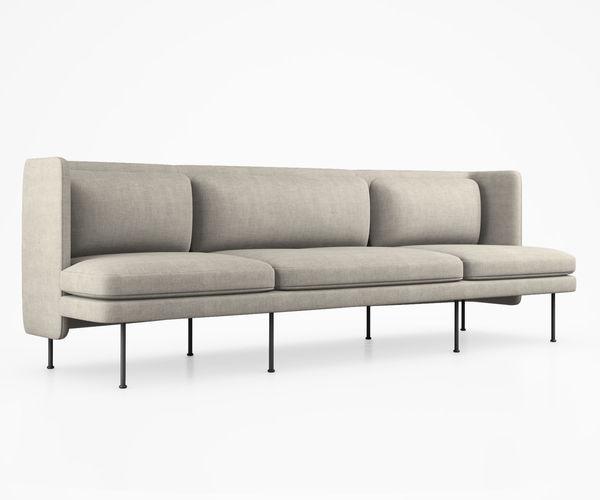 bloke sofa by blu dot 3d model max obj mtl tga 1