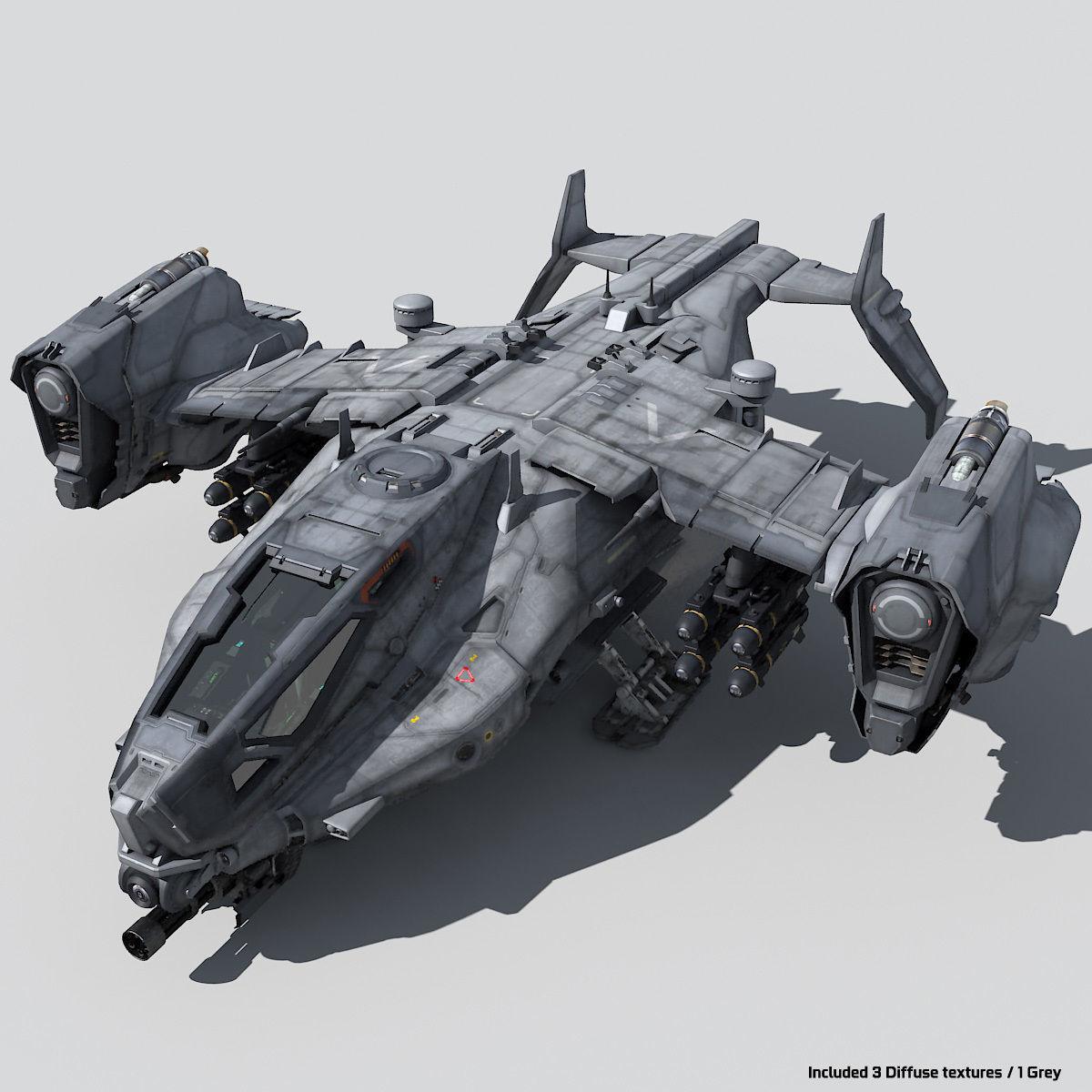 SF Heavy Military Dropship