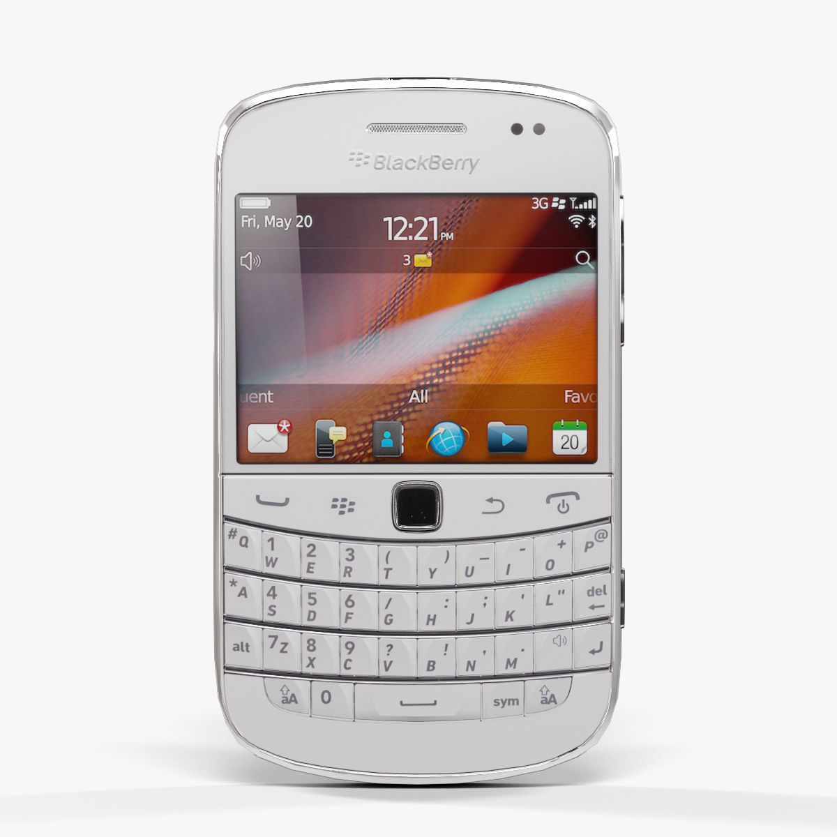 BlackBerry 9900 Pure White