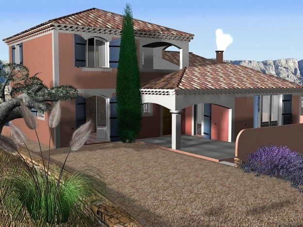 villa from south of france 3d model max 1