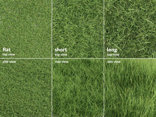 grass patches green meadow 3d model obj mtl fbx ma mb 1