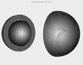 Printable moon - two insertable parts scientific-person