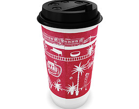 Paper cup for hot drinks 3D