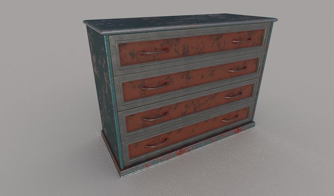 cupboard 3d model fbx dae 1