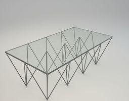 design GLASS TABLE 3D model