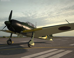 3D model Mitsubishi A6M Zero
