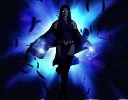 Raven DC 3D asset